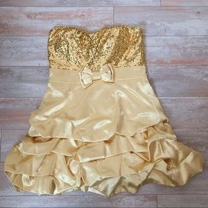 Windsor Gold Sequin Dress